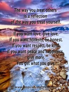reflect and give
